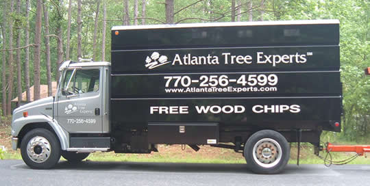 Tree Removal Truck and Chipper - Atlanta Tree Service Experts